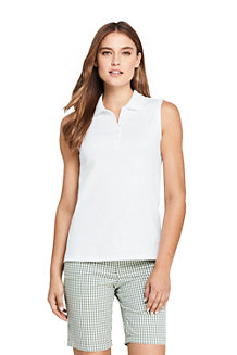 Women's Sleeveless Polo Shirt in Supima Cotton
