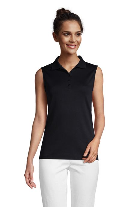 Women's Sleeveless Supima Cotton Polo