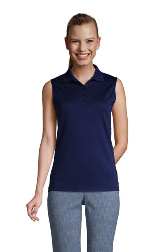 Women's Petite Sleeveless Polo Shirt in Supima Cotton