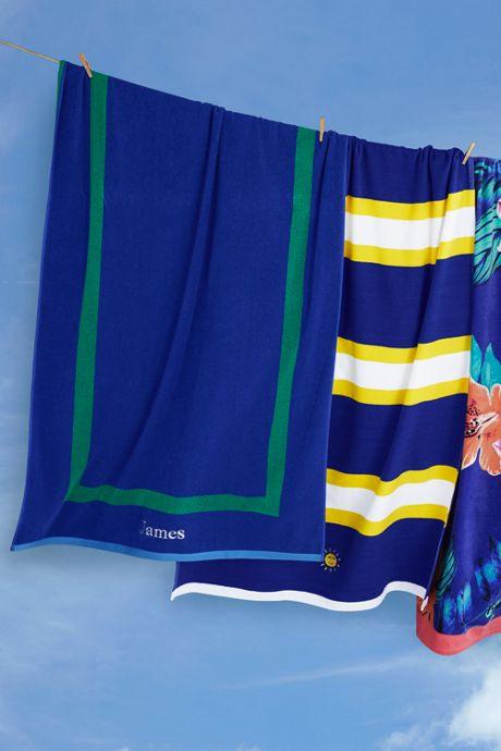 School Uniform Rugby Stripe Sport Beach Towel