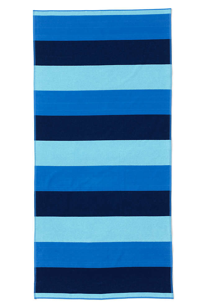 Rugby Field Stripe Beach Towel, Front