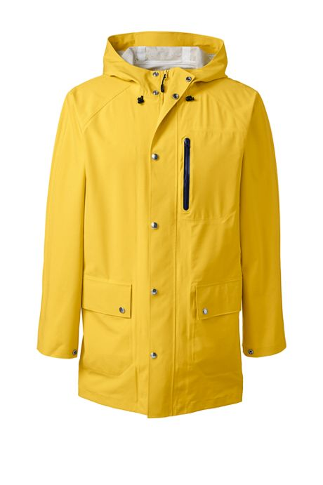 Men's Tall Waterproof Rain Slicker Jacket