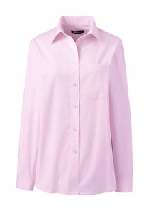 Women's Embroidered Stretch Oxford Shirt