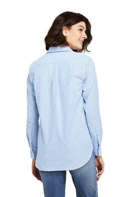 Women's Tall Oxford Boyfriend Embroidery Shirt