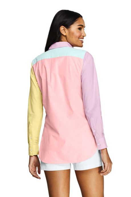 Women's Tall Oxford Colorblock Boyfriend Shirt