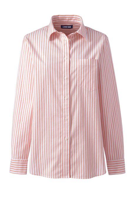 Women's Plus Size Oxford Boyfriend Stripe Shirt