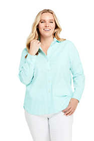 Women's Plus Size Oxford Boyfriend Shirt