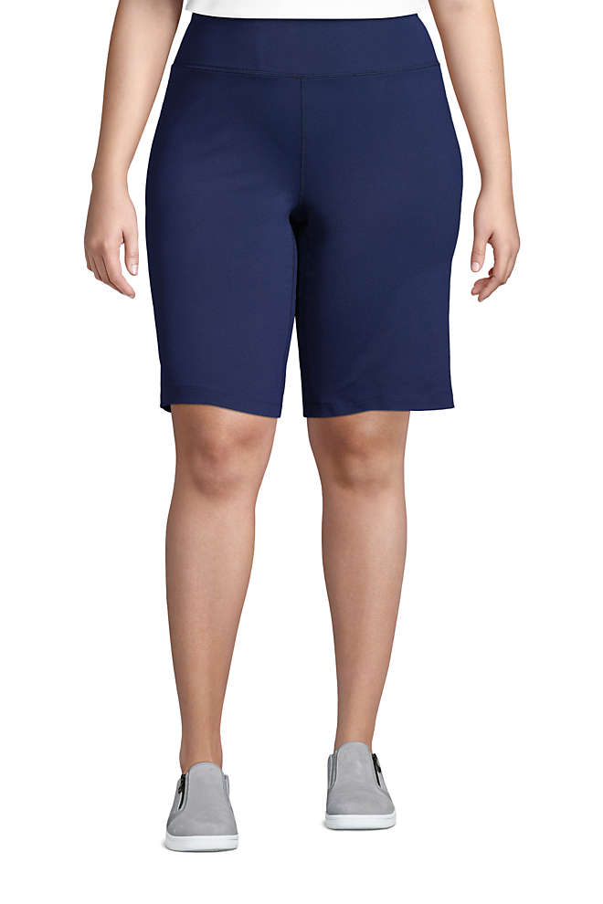 Women's Plus Size Active Relaxed Shorts, Front