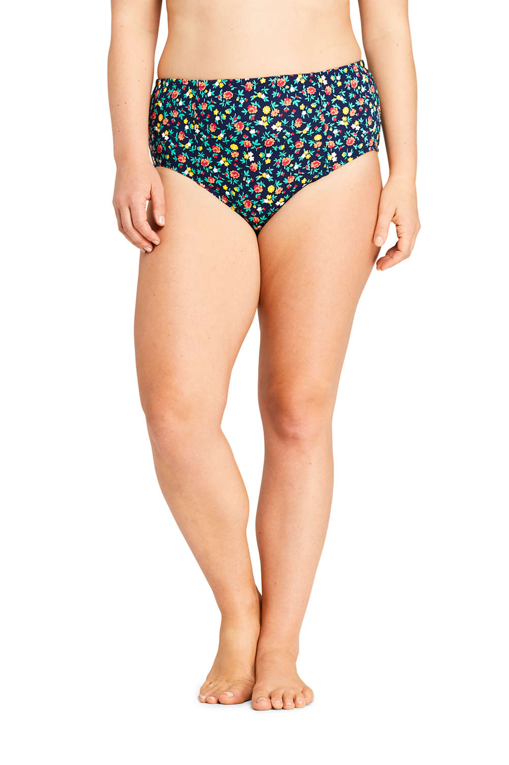 b184b842d69 Women s Plus Size Retro High Waisted Bikini Bottoms Print from Lands  End
