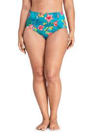 Women's Plus Size Retro High Waisted Bikini Bottoms Print