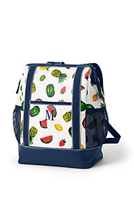 019ccd8ddadc Print Coated Canvas Insulated Backpack Cooler