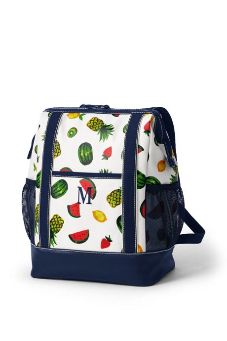 Print Coated Canvas Insulated Backpack Cooler