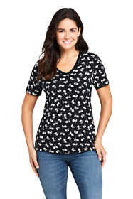 Women's Relaxed Supima Cotton Short Sleeve V-Neck T-Shirt Print