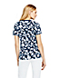 Women's Petite Supima Print V-neck T-shirt