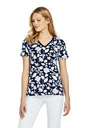6656c404e5764 Women s Printed Relaxed Short Sleeve Supima Cotton V-neck T-shirt