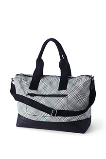 Printed Canvas Weekender Bag