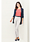 Women's Petite Stripe Jersey Long Cardigan