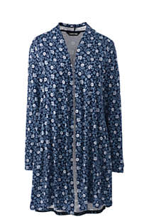 Women's Plus Size Lightweight Jersey Knit Long Cardigan Print, Front