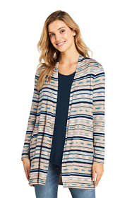Women's Lightweight Jersey Knit Long Cardigan Print