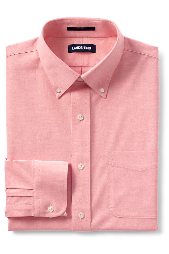Men's Traditional Fit No Iron Oxford Shirt with Stretch, Front