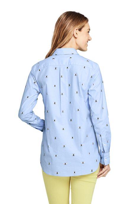 Women's Petite Oxford Boyfriend Shirt Sophie Allport Bee Print