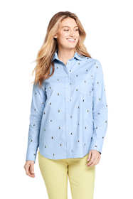 Women's Tall Oxford Boyfriend Shirt Sophie Allport Bee Print