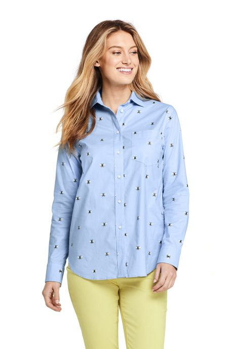 Women's Oxford Boyfriend Shirt Sophie Allport Bee Print