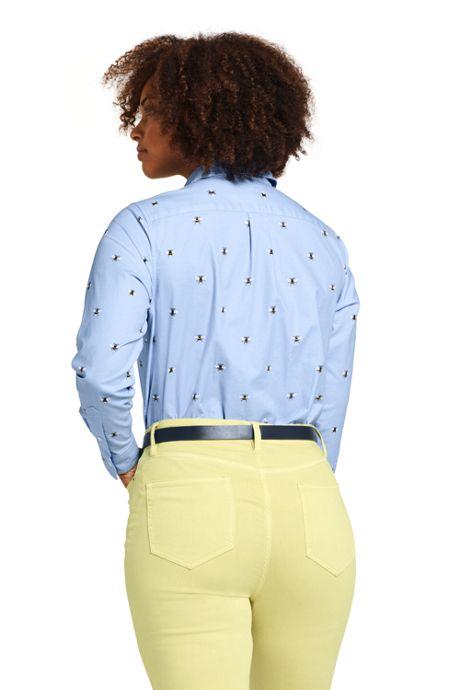 Women's Plus Size Oxford Boyfriend Shirt Sophie Allport Bee Print