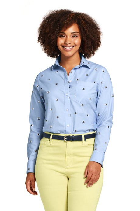 Women's Plus Size Oxford Boyfriend Shirt Sophie Allport Bee Print