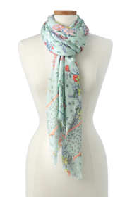Women's Tossed Floral Printed Scarf