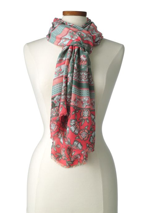 Women's Mixed Floral Stripe Scarf