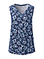 Women's Plus Printed Slub Jersey V-neck Sleeveless Top