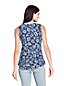 Women's Printed Slub Jersey V-neck Sleeveless Top