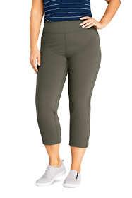 Women's Plus Size Active Crop Yoga Pants