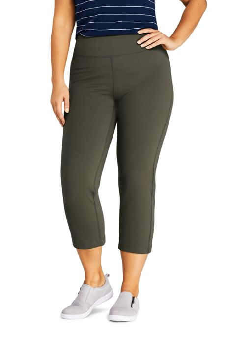 Women's Plus Size Active Crop Yoga Pants