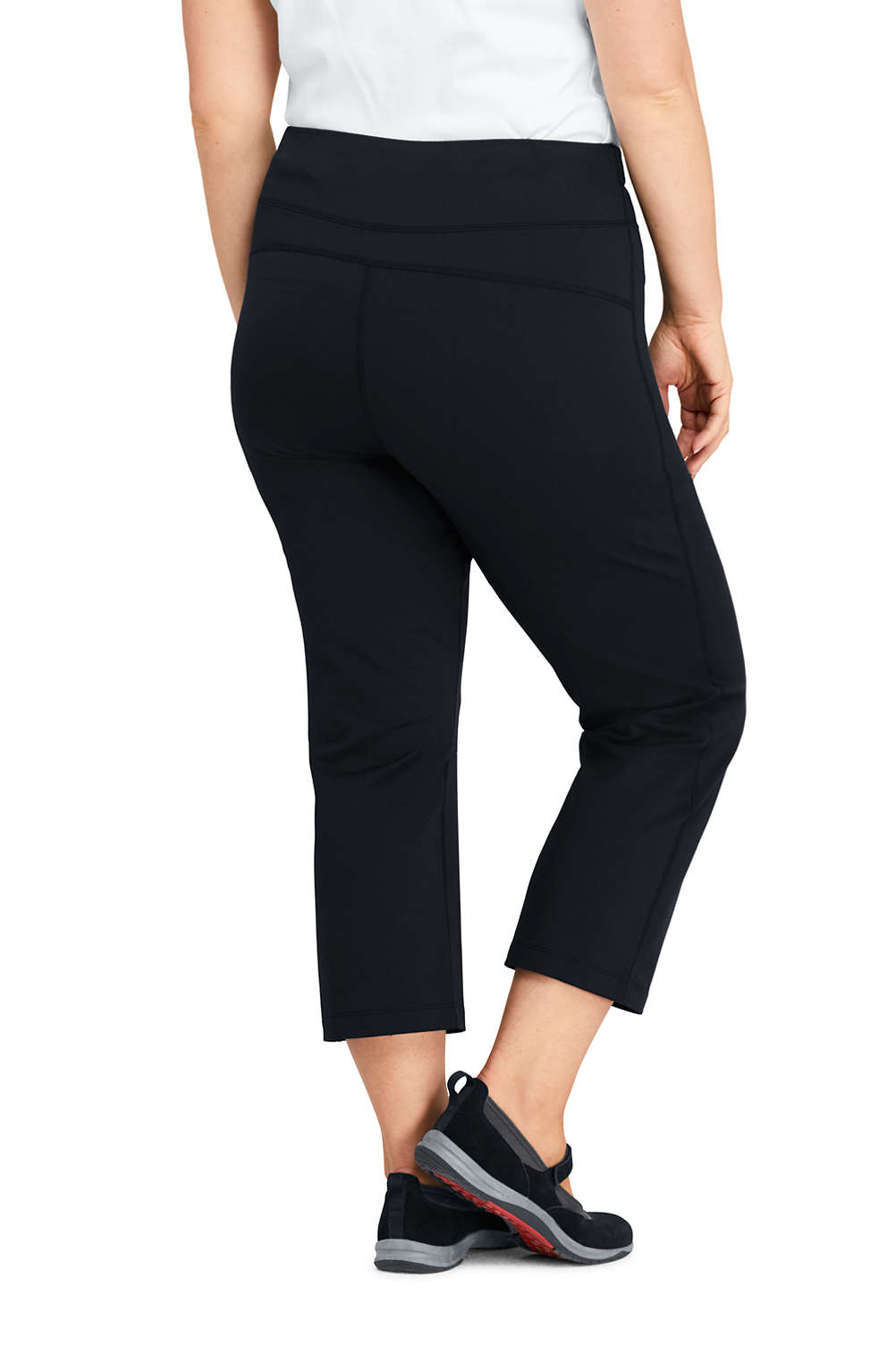 dd9806647b Women s Plus Size Active Capri Yoga Pants from Lands  End