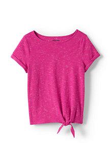 T-shirt en Coton Flammé Effet 3D, Fille