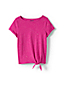 Little Girls' Knot Front 'Sprinkles' Slub Jersey Top