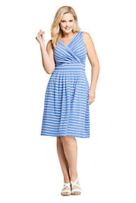 b110fd82f4c80 Women s Plus Size Banded Waist Fit and Flare Dress Knee Length