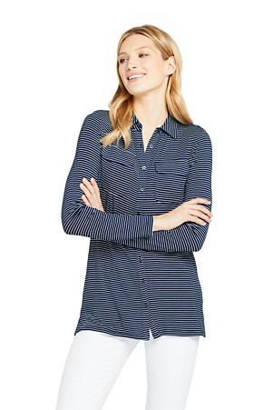 74174b9ba4b Women's Stripe Viscose Jersey Tunic Blouse | Lands' End