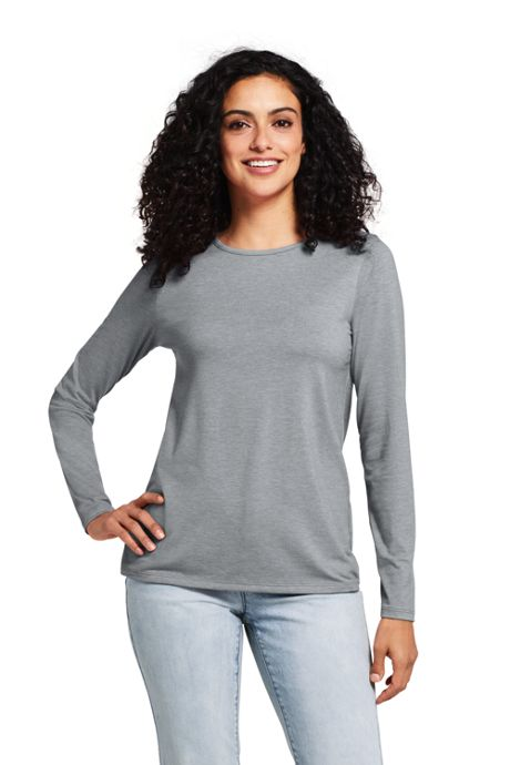 Women's Petite Long Sleeve UPF Wicking T-shirt