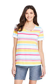 Women's Petite Short Sleeve UPF Wicking T-shirt - Print