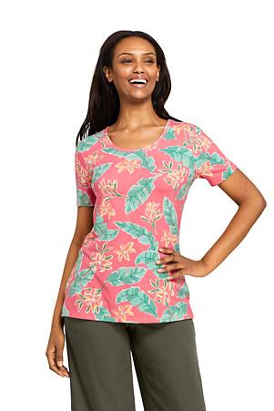 6996328a42301 Women's Essential Short Sleeve Print T-Shirt | Lands' End