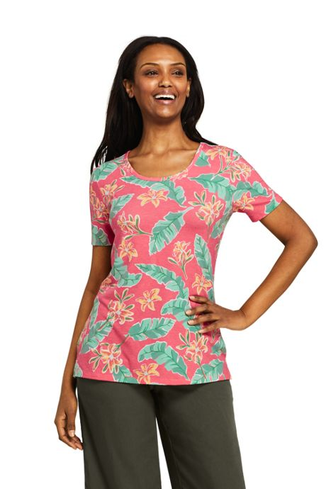Women's Tall Short Sleeve UPF Wicking T-shirt - Print