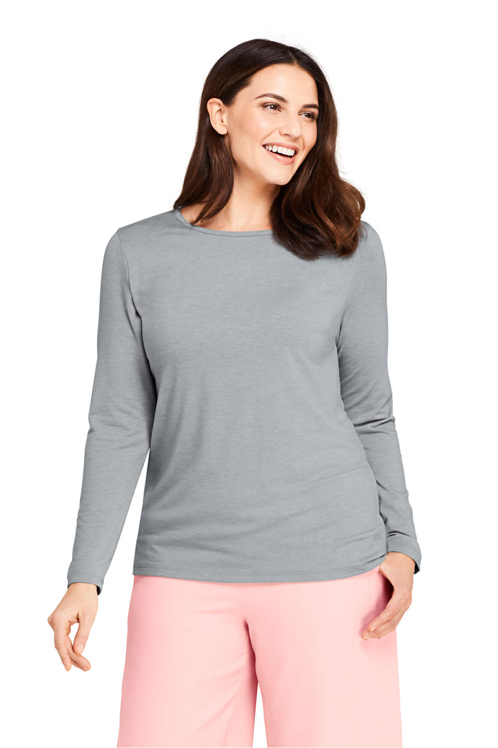 3623d6a51 Women s Plus Size Long Sleeve UPF Wicking T-shirt from Lands  End