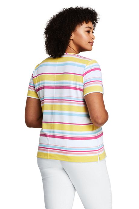 Women's Plus Size Short Sleeve UPF Wicking T-shirt - Print