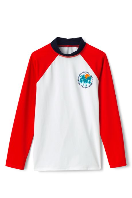 Boys Raglan Graphic Rash Guard