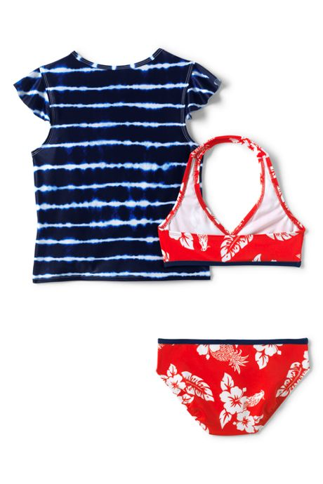Girls Halter Bikini Rash Guard Set