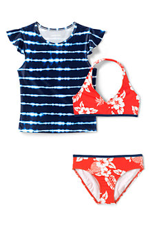 Ensemble de Bain Bikini et T-Shirt, Fille