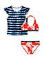 Ensemble de Bain Bikini et T-Shirt, Petite Fille
